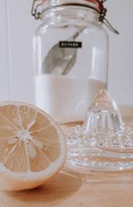 Sugaring Zutaten Zitrone Zucker