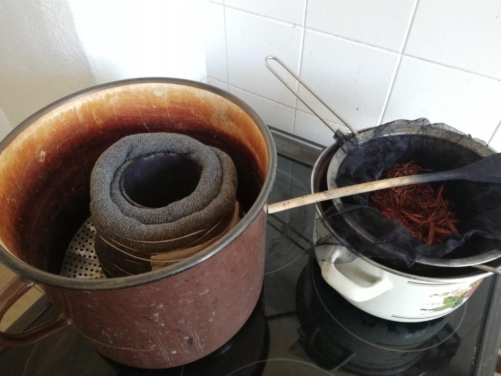 Färbung über Dampf